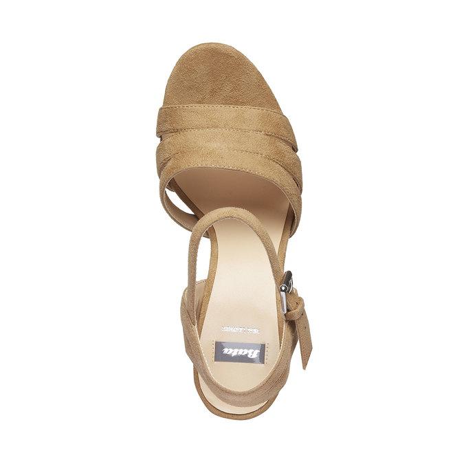 Dámské sandály na masivním podpatku bata, hnědá, 769-8484 - 19