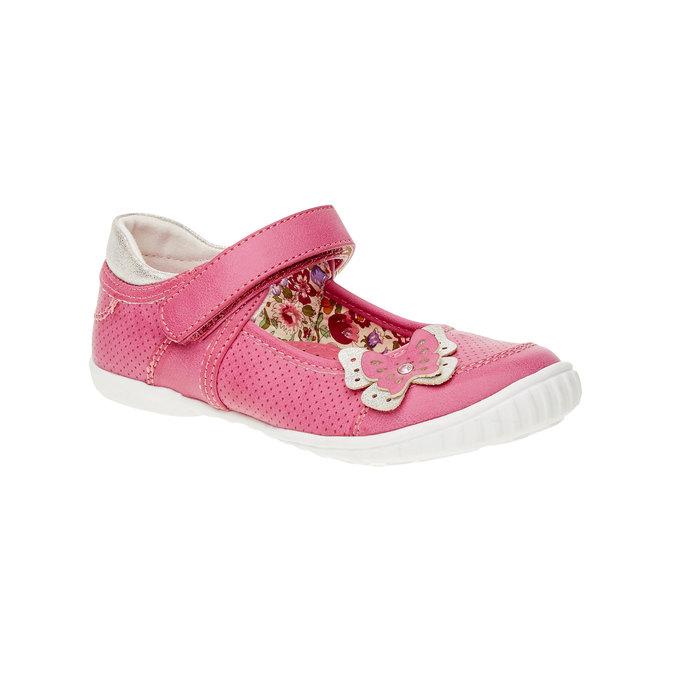 Dívčí baleríny s páskem mini-b, růžová, 221-5160 - 13