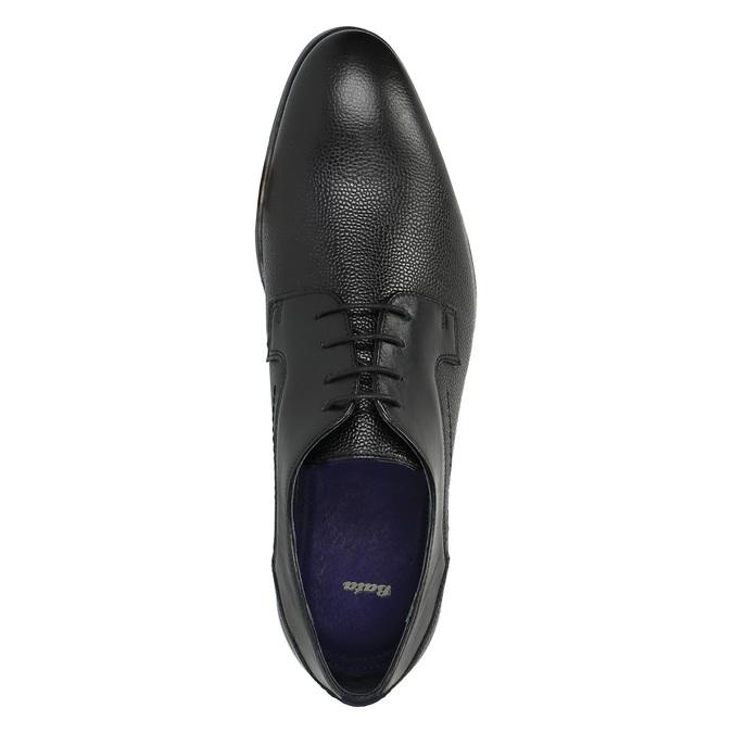 Pánské kožené polobotky bata, černá, 824-6709 - 19