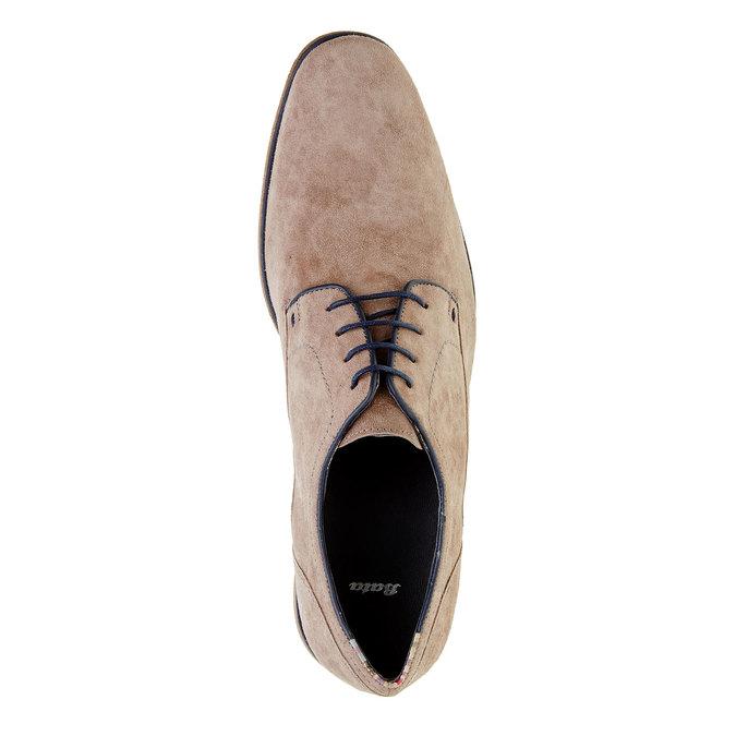 Pánské polobotky s koženou podešví bata, béžová, 823-2838 - 19