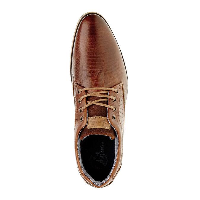 Ležérní kožené polobotky bata, hnědá, 824-4290 - 19