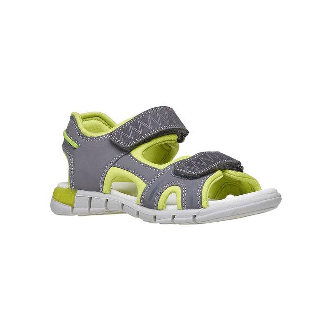 Dětské sandály s koženými pásky mini-b, šedá, 264-2166 - 13