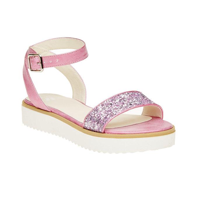 Sandály na flatformě se třpytkami mini-b, růžová, 361-5165 - 13
