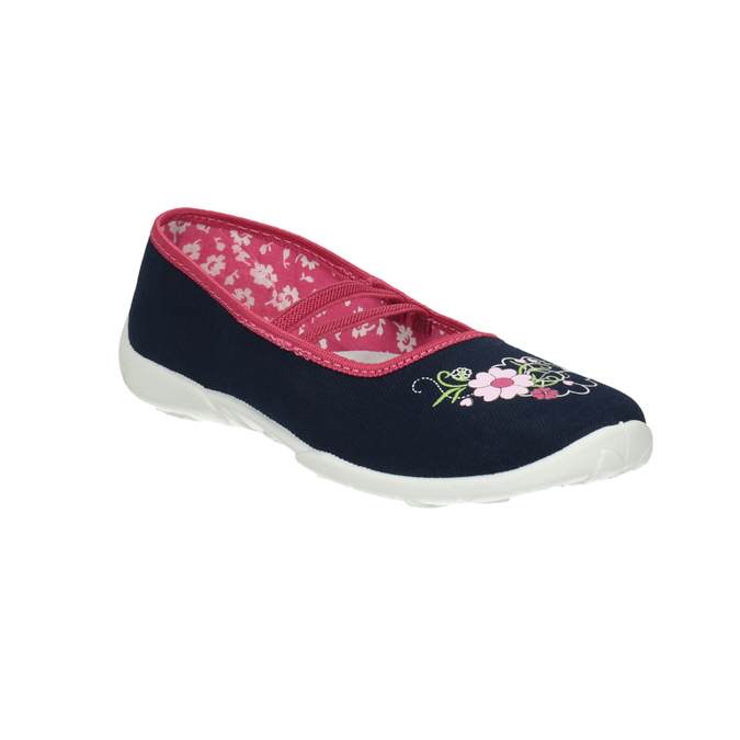Dětská domácí obuv mini-b, modrá, 379-9208 - 13