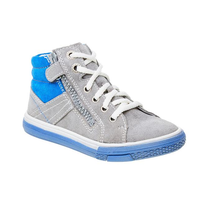 Chlapecká kožená obuv richter, šedá, 413-2003 - 13