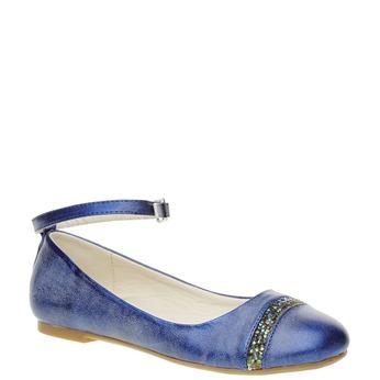 Modré baleríny s páskem mini-b, modrá, 321-9181 - 13