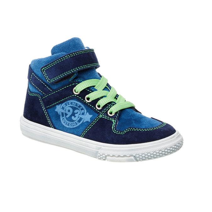 Chlapecká kožená obuv richter, modrá, 413-9002 - 13