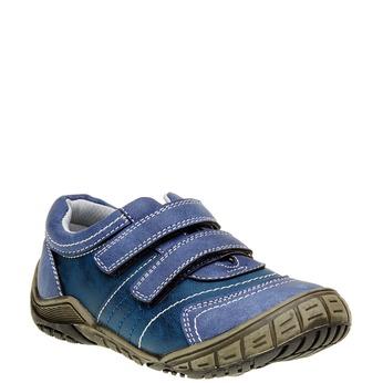 Dětské ležérní tenisky na suchý zip mini-b, modrá, 311-9212 - 13