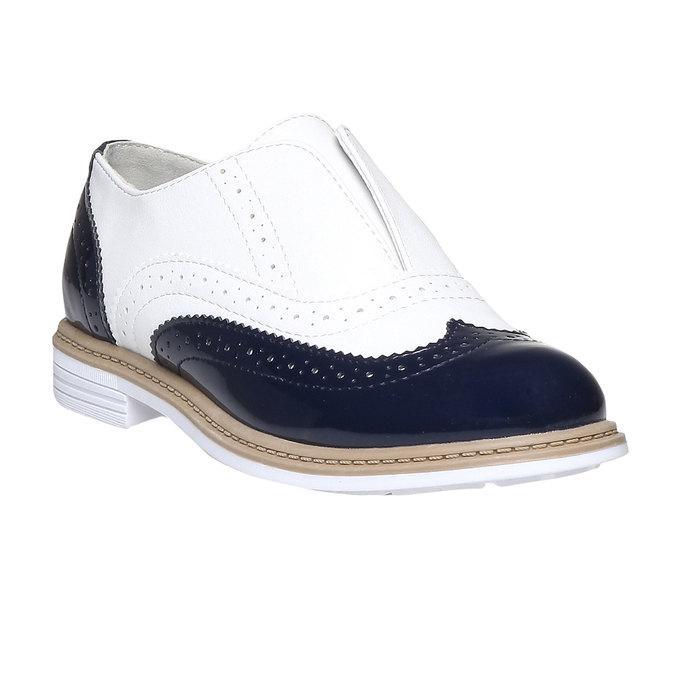 Dětské polobotky ve stylu Spectator shoes mini-b, černá, 321-6178 - 13