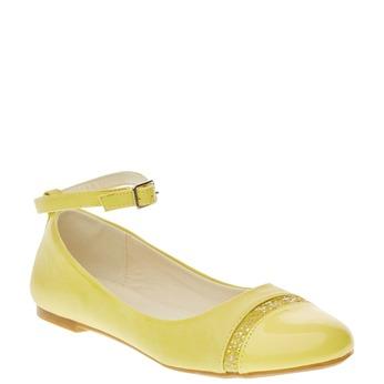 Žluté baleríny s páskem mini-b, žlutá, 321-8181 - 13