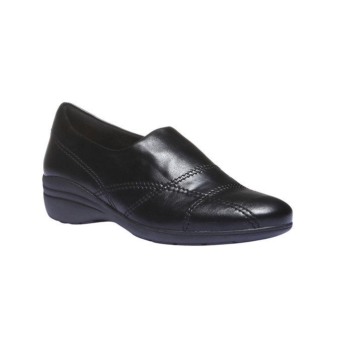Nazouváky s prošitím bata, černá, 511-6101 - 13