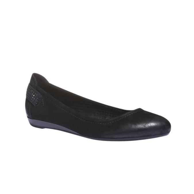 Kožené baleríny bata, černá, 526-6101 - 13