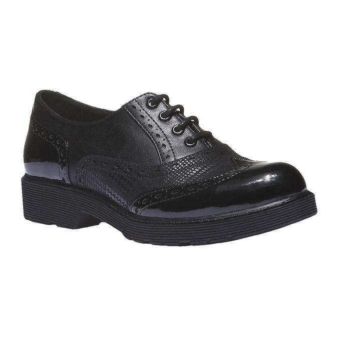 Dámská obuv na masivní podešvi bata, černá, 521-6114 - 13
