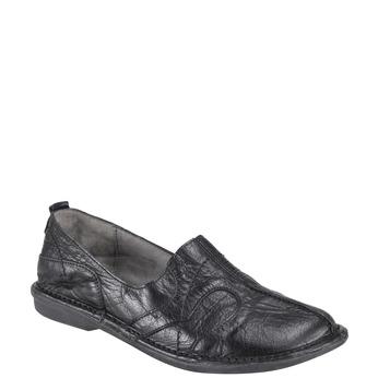 Dámská kožená obuv bata, černá, 556-6100 - 13