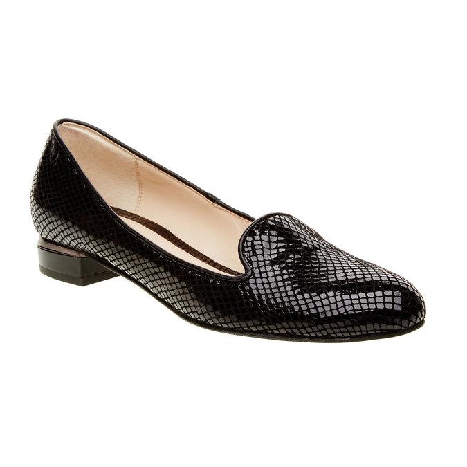 Dámské kožené mokasíny bata, černá, 524-6412 - 13
