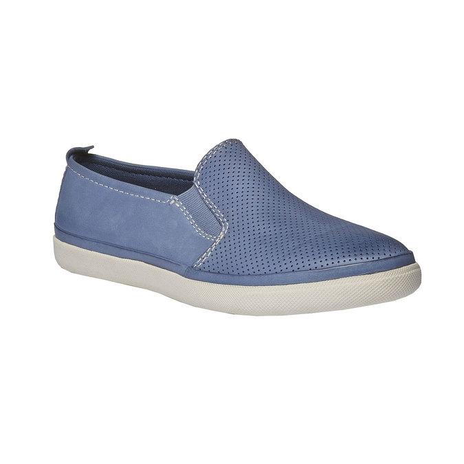 Kožené Plim Soll boty s perforací bata, modrá, 514-9197 - 13