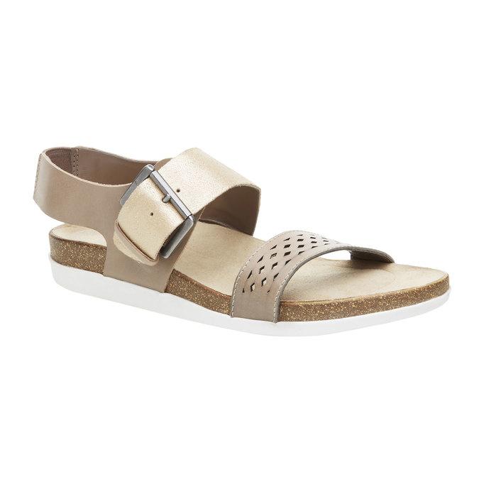 Dámské kožené sandály rockport, žlutá, 566-8104 - 13
