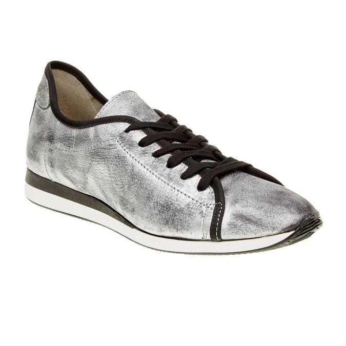 Stříbrné kožené tenisky bata, stříbrná, 526-1131 - 13
