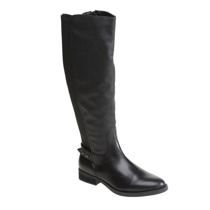 Kožené kozačky v jezdeckém stylu bata, černá, 594-6104 - 13