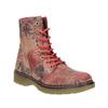 Kožná kotníčková obuv s květinovým vzorem bata, růžová, 596-5609 - 13