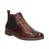 Kožené Chelsea boots bata, hnědá, 596-4606 - 13