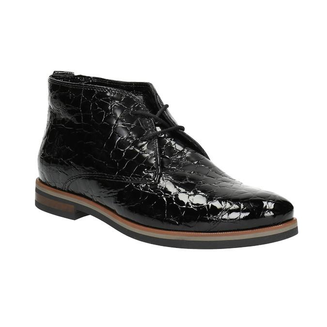 Dámské kožené polobotky ke kotníkům bata, černá, 598-6601 - 13