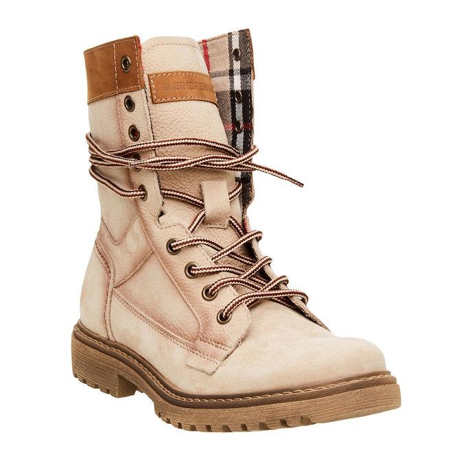 Kožené kotníčkové boty s výraznou podešví weinbrenner, béžová, 596-8170 - 13