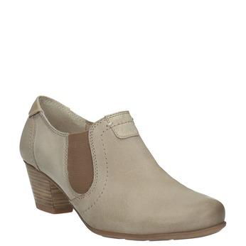 Kožená kotníčková obuv bata, hnědá, 626-8102 - 13