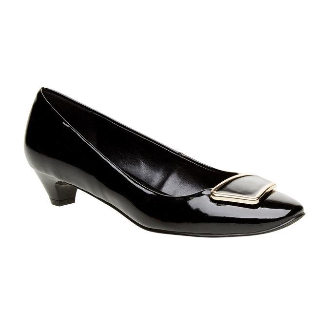 Dámské lodičky na nízkém podpatku bata, černá, 621-6201 - 13
