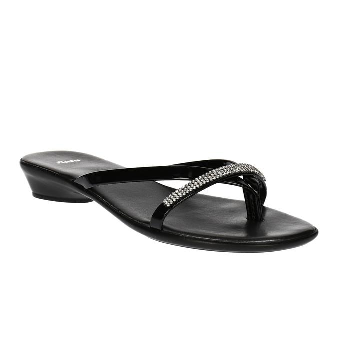 Dámské žabky s kamínky bata, černá, 671-6103 - 13