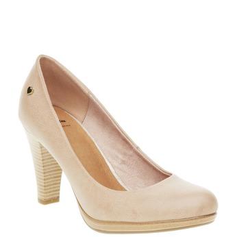 Lodičky na širokém podpatku bata, béžová, 721-5946 - 13