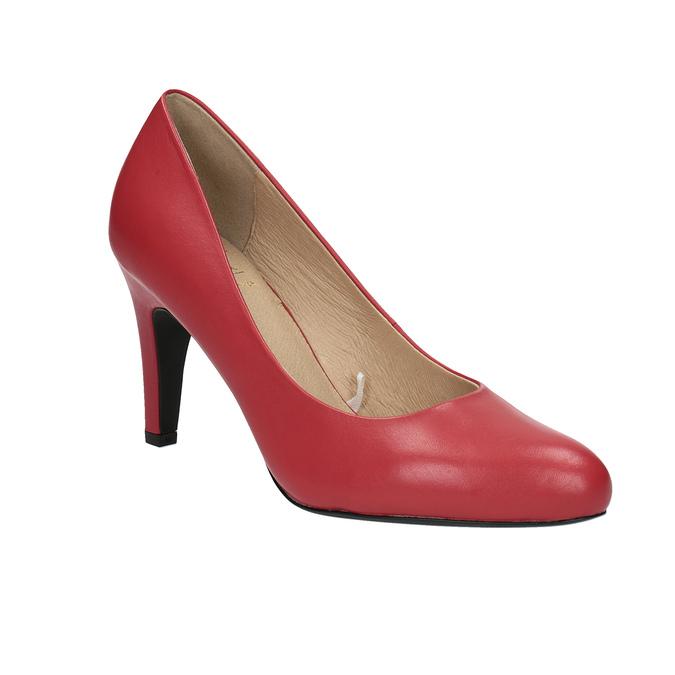 Červené kožené lodičky insolia, červená, 724-5633 - 13