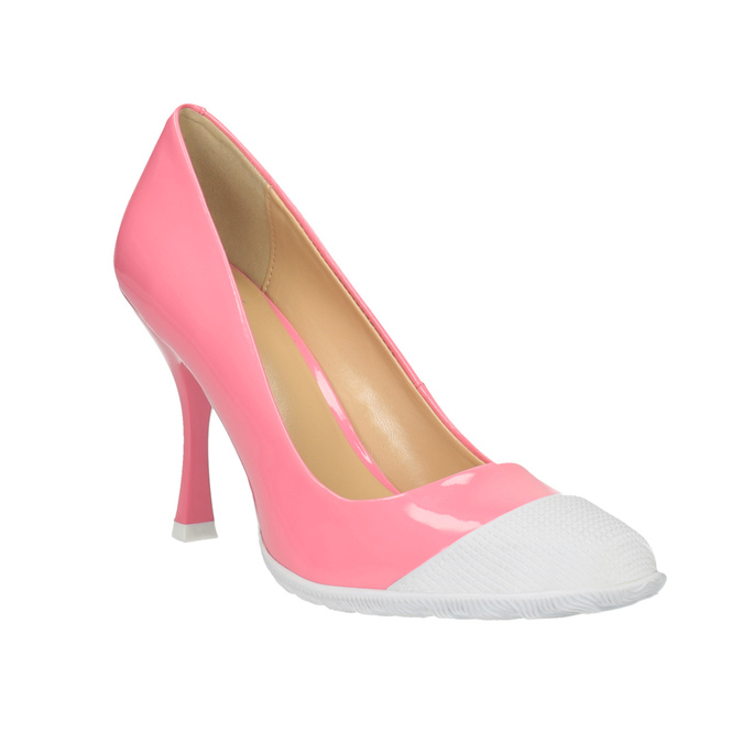 Růžové lodičky ve sportovním designu bata, růžová, 726-5630 - 13