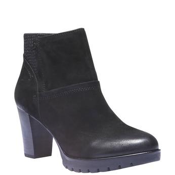 Kožená kotníčková obuv bata, černá, 796-6122 - 13