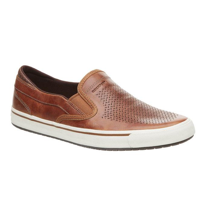 Kožené Plim Soll boty rockport, hnědá, 814-3103 - 13