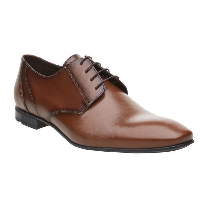Pánská kožená obuv typu Derby lloyd, hnědá, 824-3108 - 13