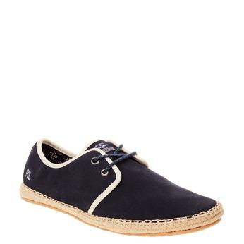 Pánské černé kožené tenisky pepe-jeans, černá, 823-9011 - 13