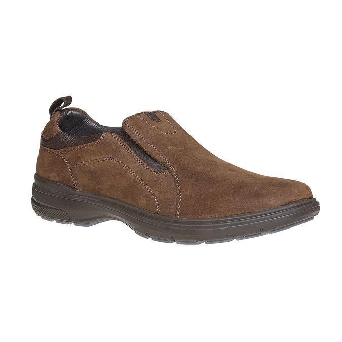 Pánské kožené nazouváky bata, hnědá, 816-4223 - 13