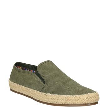 Pánské Slip on boty bata, zelená, 839-7116 - 13