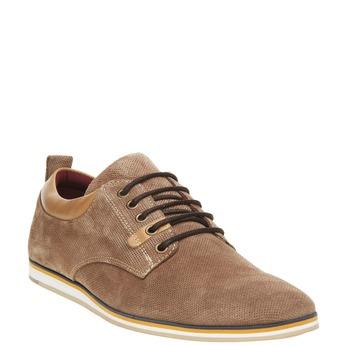 Ležérní kožené polobotky bata, hnědá, 826-4107 - 13