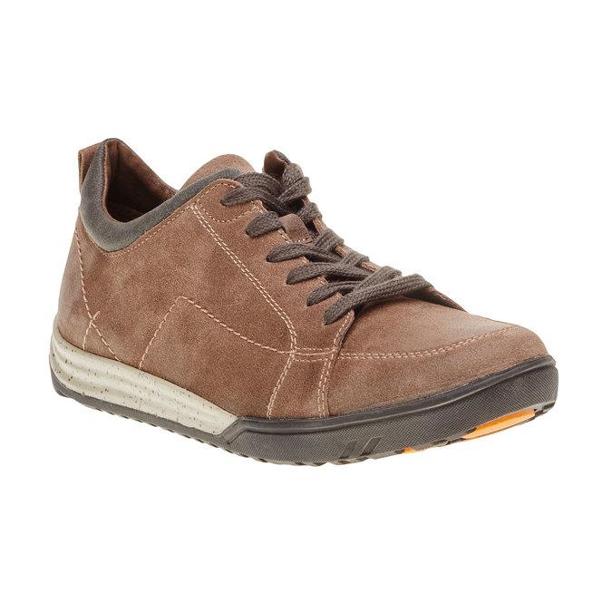 Kožené ležérní tenisky bata, hnědá, 843-3386 - 13