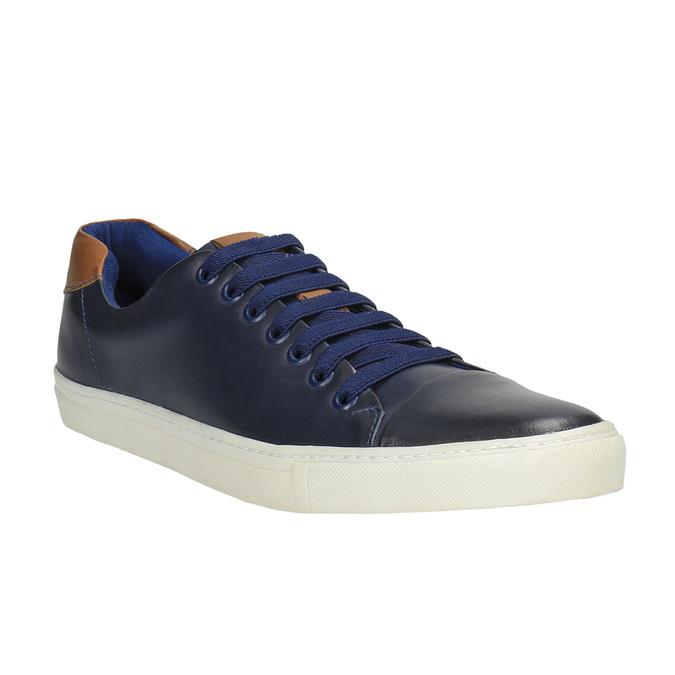 Pánské kožené tenisky bata, modrá, 844-9626 - 13