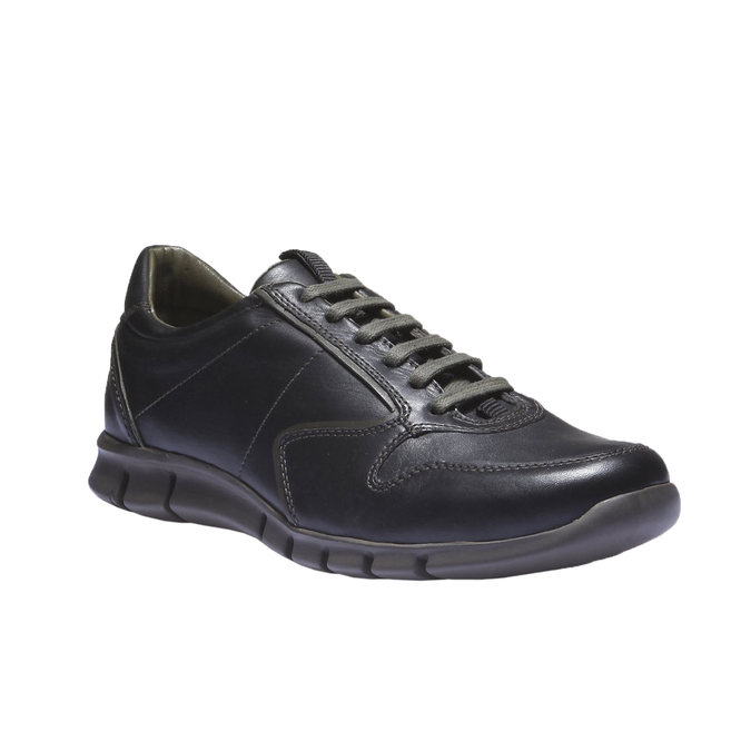 Kožené tenisky bata, černá, 844-6270 - 13