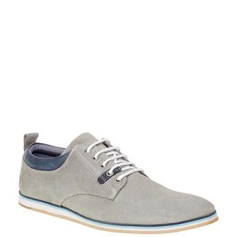 Ležérní kožené polobotky bata, šedá, 826-2107 - 13
