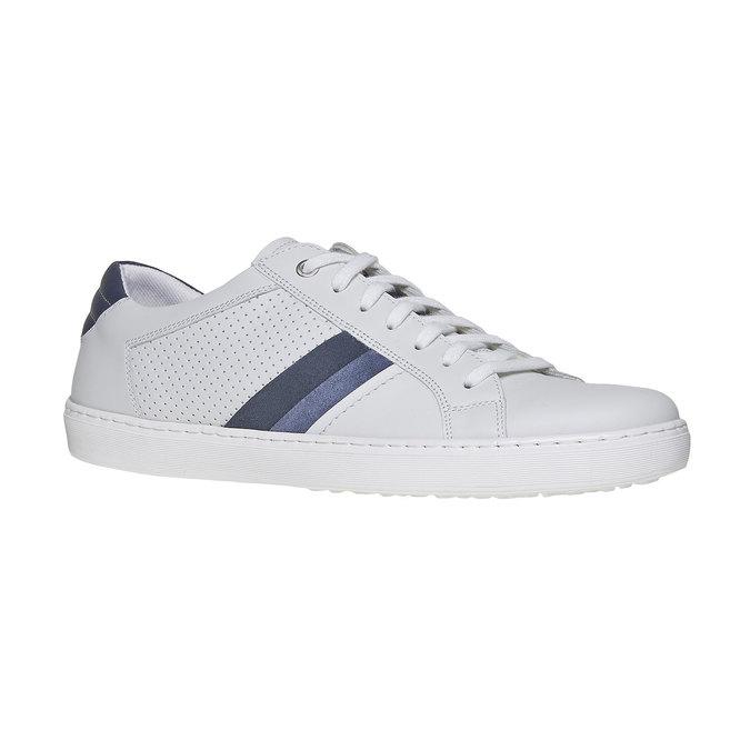 Bílé kožené tenisky bata, bílá, 844-1639 - 13
