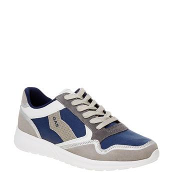 Pánské kožené tenisky gas, modrá, šedá, bílá, 843-9606 - 13