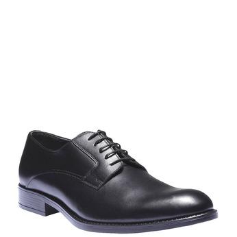 Kožené polobotky v Derby stylu bata, černá, 824-6874 - 13