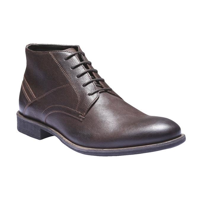 Kožená kotníčková obuv bata, hnědá, 894-4178 - 13
