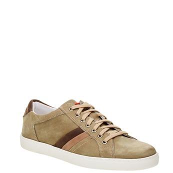 Ležérní kožené tenisky bata, béžová, 846-7638 - 13