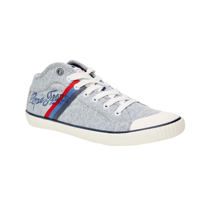 Pánské kotníčkové tenisky pepe-jeans, šedá, 849-2001 - 13